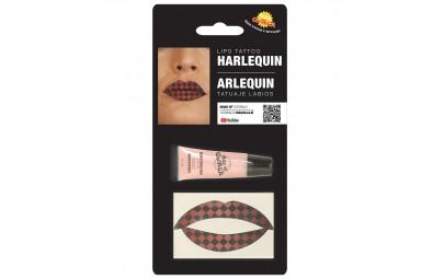 Tatuaż na usta romby