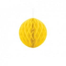 Kula bibułowa żółta 20cm