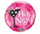 Balon foliowy 18 Hen Night różowy
