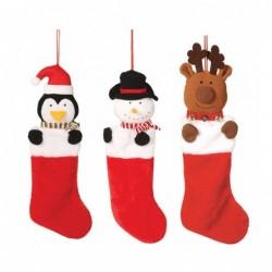 Zawieszki świąteczne na prezenty buty mikołaja 56cm