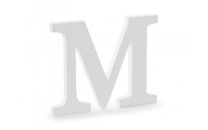 Litera drewniana M biała...