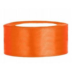 Taśma satynowa pomarańczowa 25mm x 25m