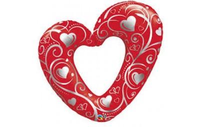 Balon foliowy 42 serce...