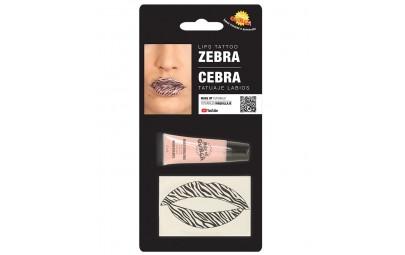 Tatuaż na usta zebra