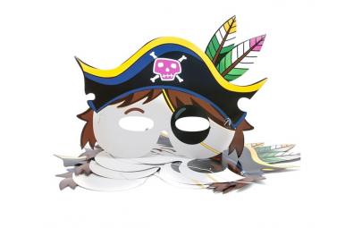 Maska pirat 26x19cm 6 szt