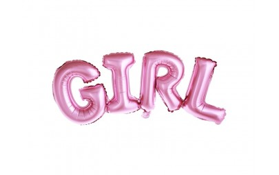 Balon foliowy Girl rożowy...