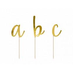 Toppery Alfabet złoty 9,5-12cm