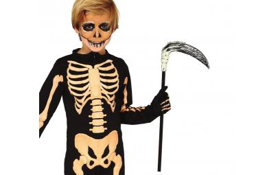 Kosa z ręką szkieletu 47cm