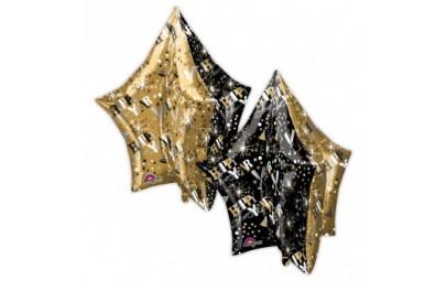 Balon foliowy 34 gwiazda 3D...