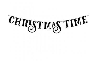 Baner Christmas Time czarny...