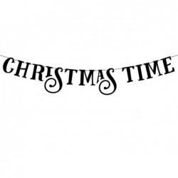 Baner Christmas Time czarny 80cm
