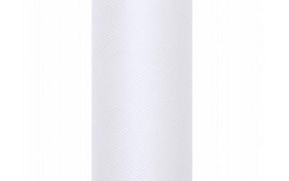 Tiul na rolce biały 0,3 x 9m