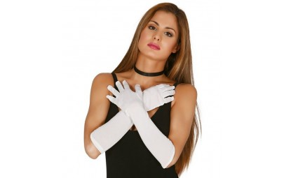 Rękawiczki białe 45cm