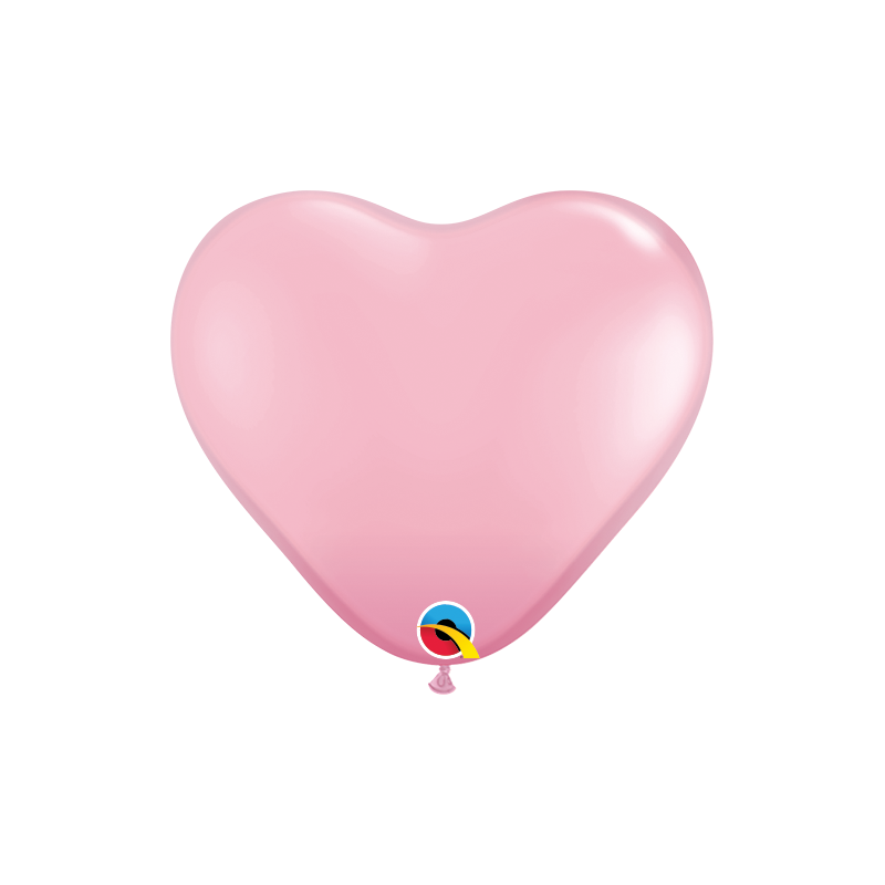 Balon 11 serce jasny róż pastel 10 szt.