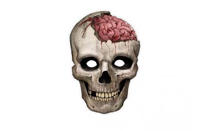 Maska Papierowa Czaszka Zombie