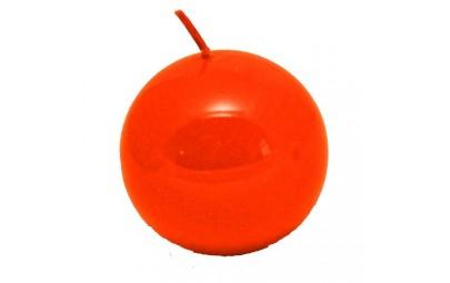 Świeca kula lakier pomarańcz 60 mm