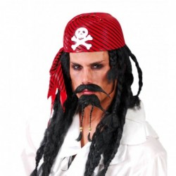 Czapka pirata czerwona z...