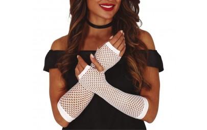 Rękawiczki kabaretki białe...