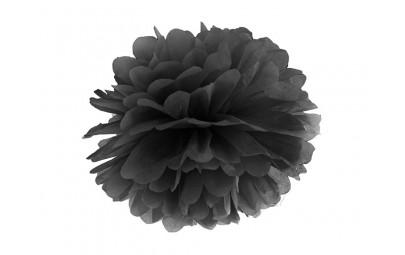 Pompon bibułowy czarny 35cm