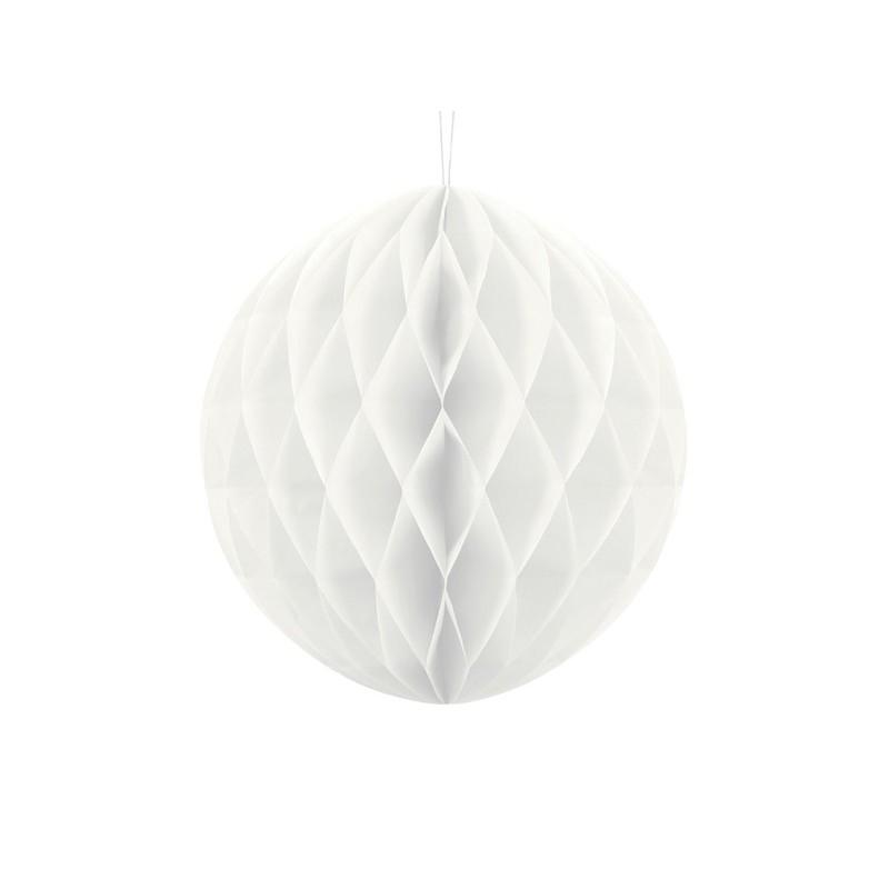 Kula bibułowa biała 30cm