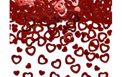 Konfetti metalizowane serca...