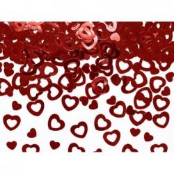 Konfetti metalizowane serca 15g