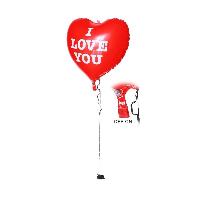 Balon foliowy 62cm świecący serce I LOVE YOU czerwone