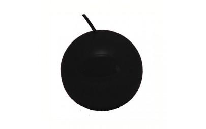 Świeca kula lakier czarny 60 mm