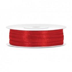 Taśma satynowa czerwona 3mm...