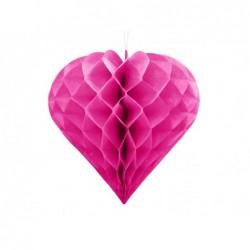 Serce bibułowe 30cm ciemny...