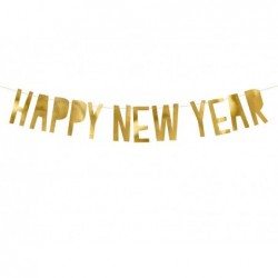 Baner Happy New Year złoty 10x90cm