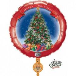 Balon foliowy 31 Merry Christmas choinka z dźwiękiem