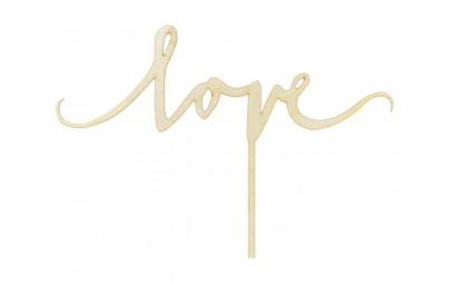 Topper drewniany Love 16cm