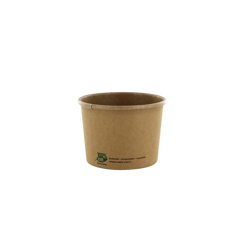 Kubek na zupę z papieru 350ml 9,8x7cm 25szt brązowy art.87265