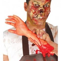 Oderwana ręka odcięta konczyna halloweenowa  30cm