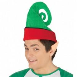 Czapka elfa zakręcona zielona