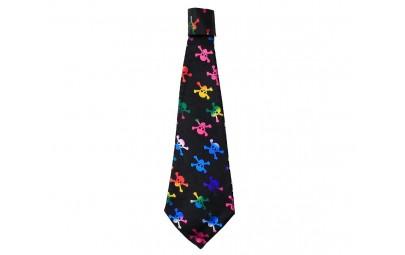 Krawat kolorowe czaszki