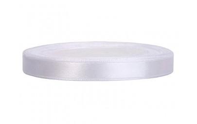 Taśma satynowa biała 6mm x 25m