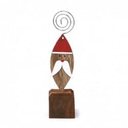 Spinka przypominajka z drewna mikołaj 15cm