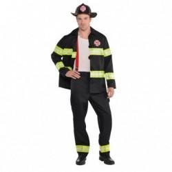 Strój dla dorosłych Strażak roz.M (kurtka, spodnie, kask, szelki)