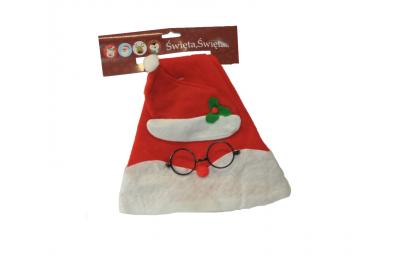 Czapka Mikołaj w okularach...