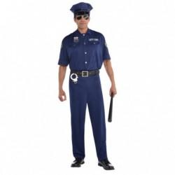 Strój dla dorosłych Policjant roz.M (czapka, pasek, koszula, spodnie)