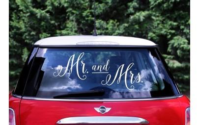Naklejka ślubna na samochód...