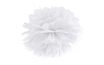 Pompon bibułowy biały 35cm