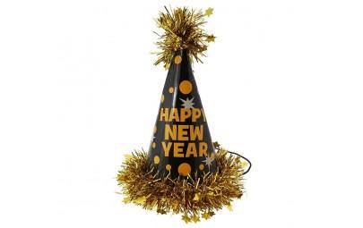 Czapeczka Happy New Year złota