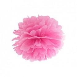 Pompon bibułowy różowy 35cm
