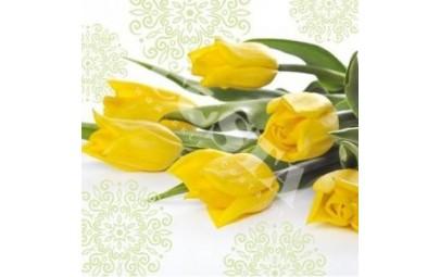 Serwetka Tulips żółta