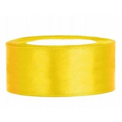Taśma satynowa żółta 25mm x...