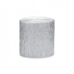 Krepa srebrna 5cm x 10m 4 szt.