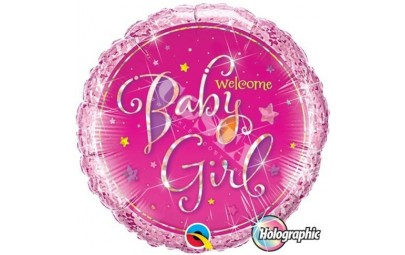 BALON 18 WELCOME BABY GIRL...